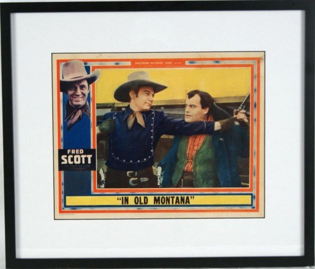 20A: Fred Scott 'In Old Montana' 1939 Lobby Card Very G