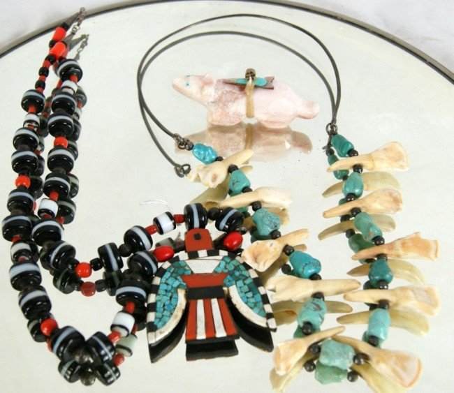 6: Turquoise & Beaded Necklaces & Hishi From the Richar