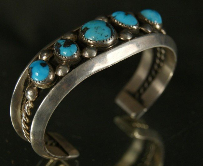 22: Turquoise & silver Bracelet