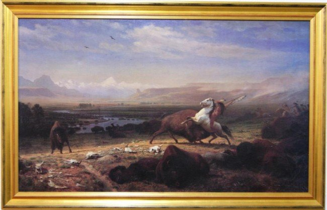 91: Alfred Jacob Miller (1810-1874) giclee on canvas 30