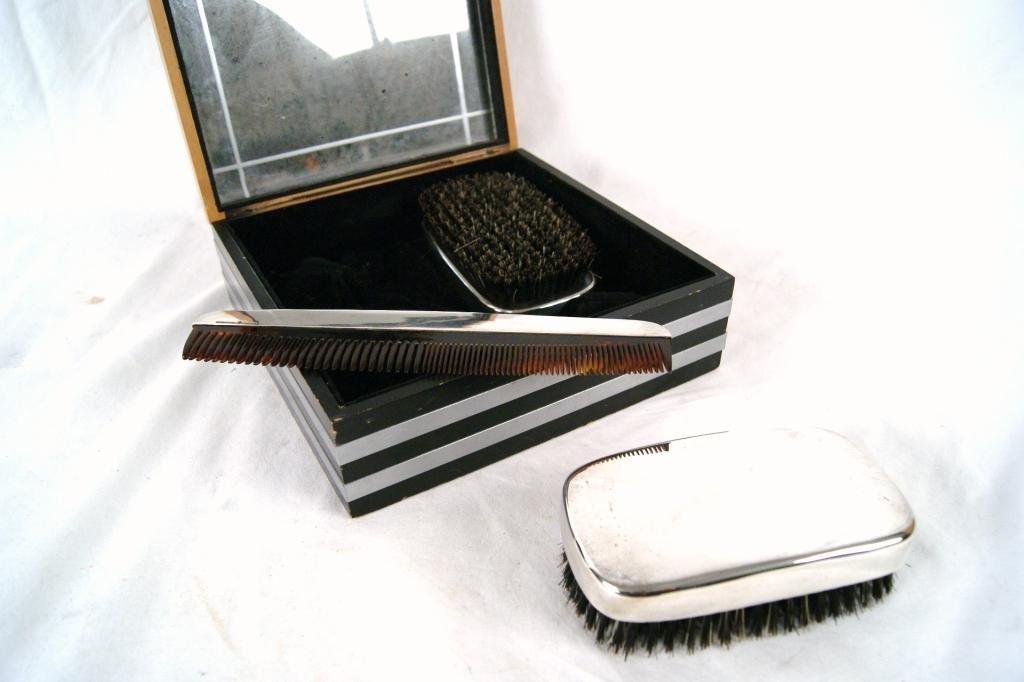 2: International Sterling brush set -3pcs in Deco box