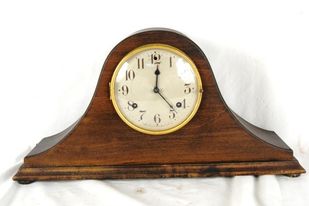 11A: Antique Waterbury Mantle clock w/ key
