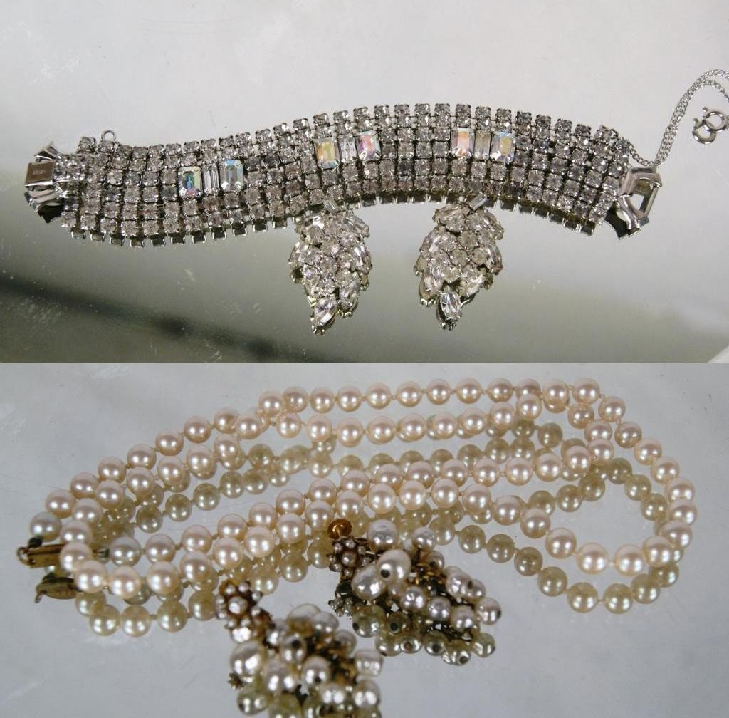 12: Signed M. Haskell pearl & Weiss Jewelry Sets Miriam