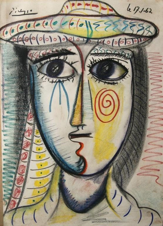 200A: Attributed to Pablo Picasso 'Femme au Chape'