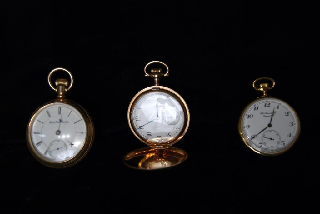 19: 3 Gold filled pocket watches