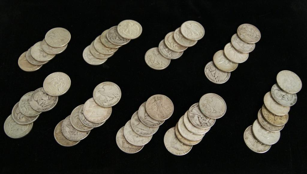 2: Silver Kennedy, Bell & Walking Liberty Half Dollars
