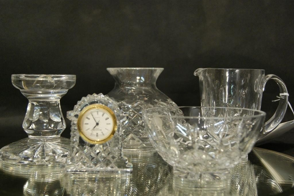 6: 5 pcs  Waterford crystal glasses