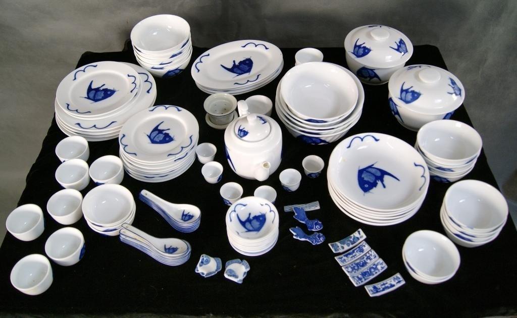 12: Lot of Oriental blue & white China