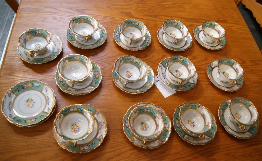 18: Vista Alegre Portuguese fine porcelain cups/saucer