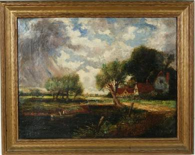 216: Attributed to John Constable (1776 - 1837) o/c