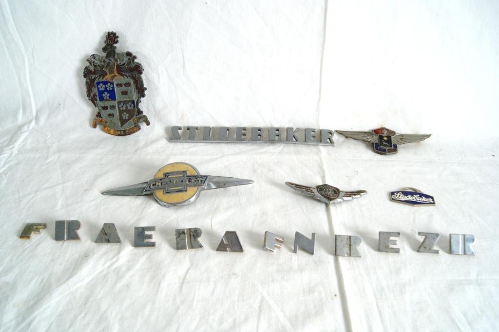 1: Vintage Automotive emblems - Studebaker..etc.