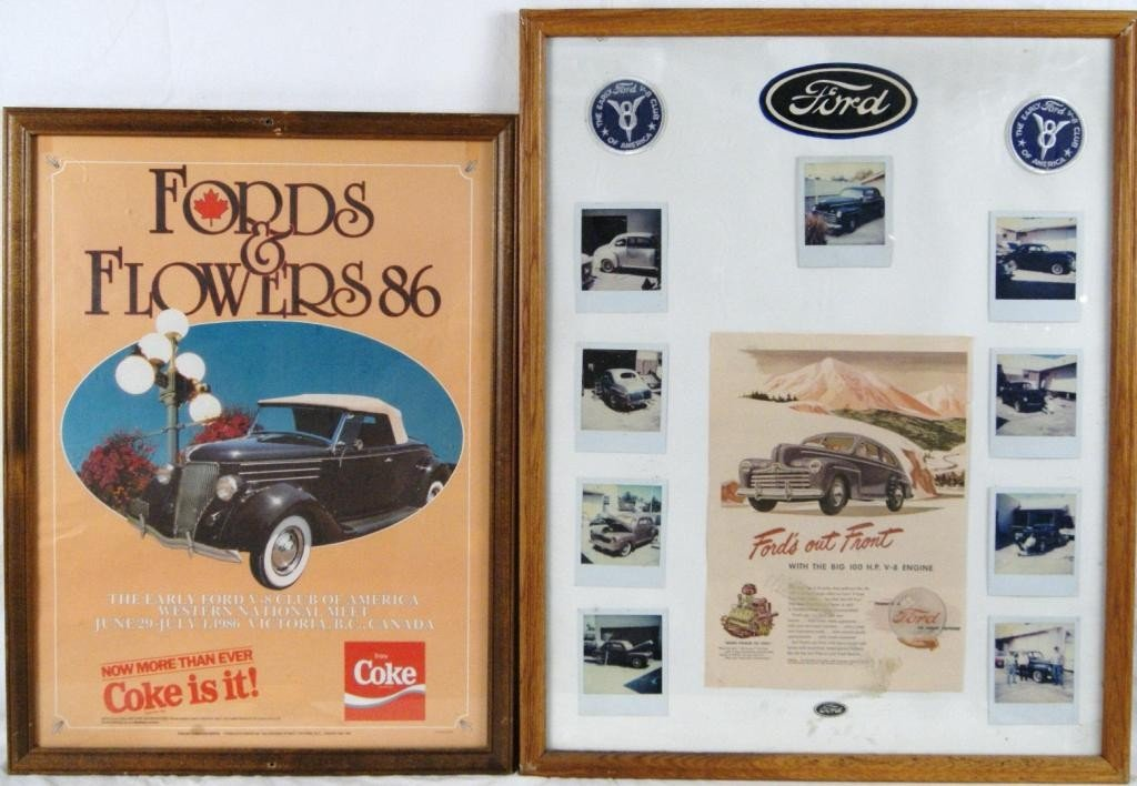 4: 2 Ford advertising posters or prints