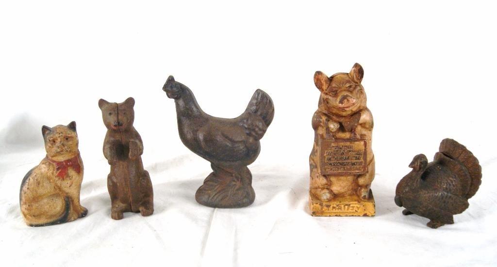 9: Farm animal antique  Banks - 5