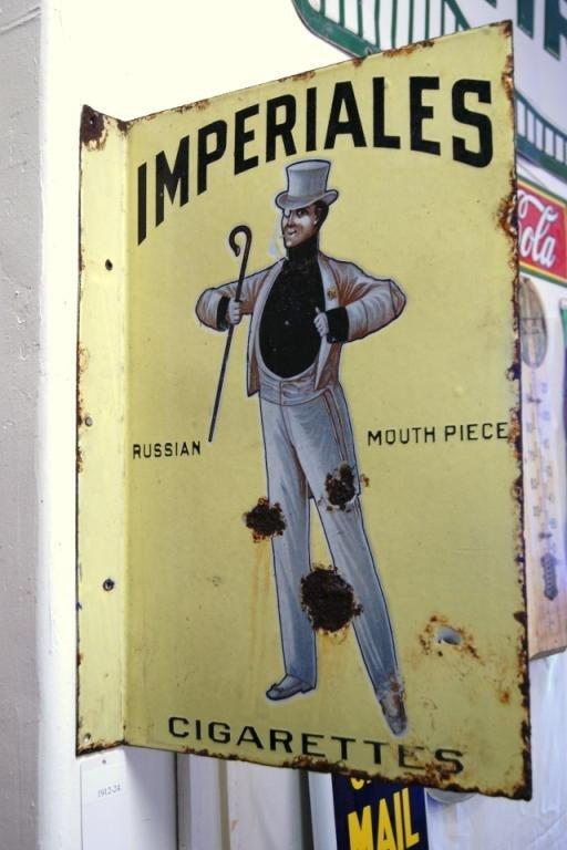 16: Imperiales porcelain cigarette sign