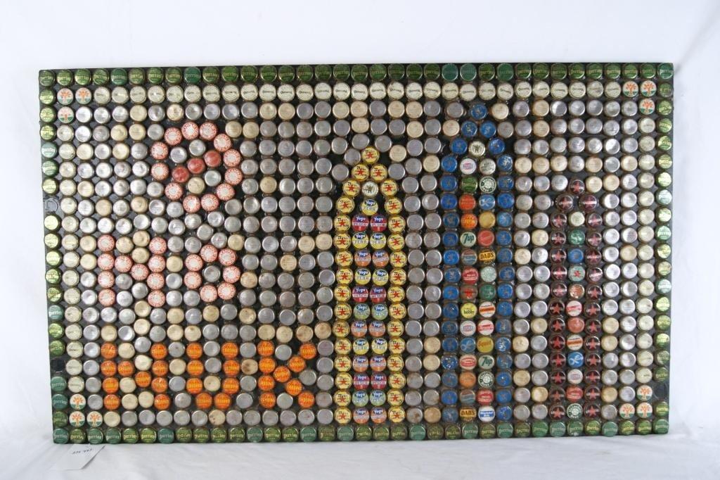 22: - Vintage Bottle cap Mosaic no nukes