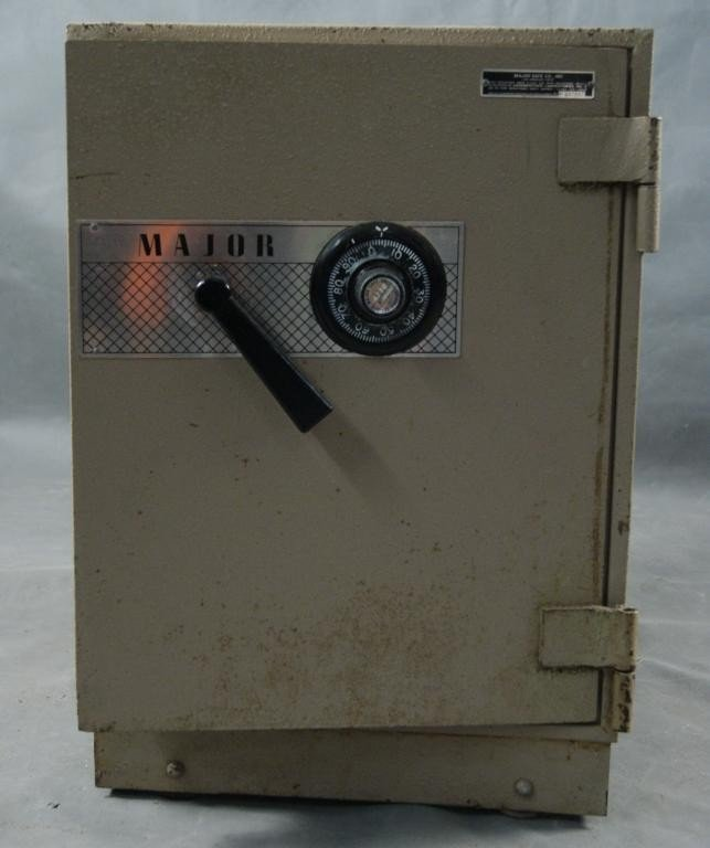 "31A: ""Major' Safe Company Safe with combination"