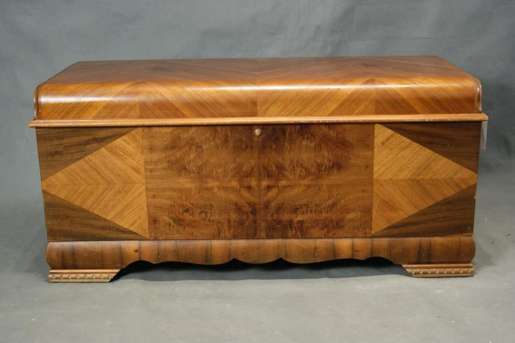 41: Art Deco waterfall cedar chest