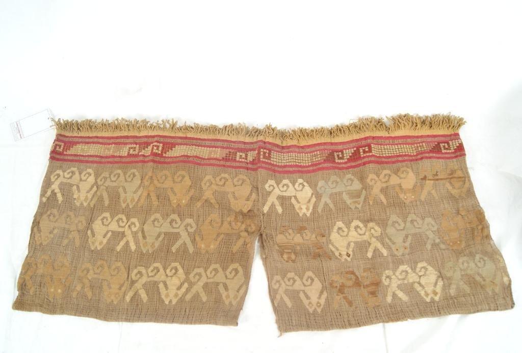 74: Pre Columbian Chancay  tunic - pictorial