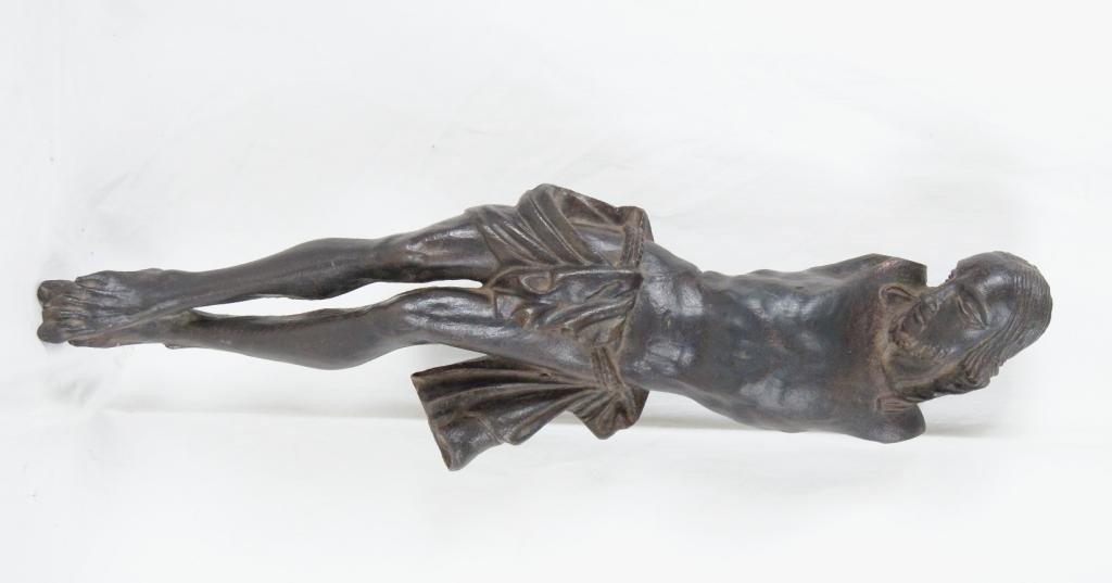 """78A: Cast iron Corpus Christi 19"""" - Early 19thc France"""