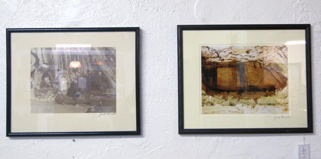 80: Pair of Josef Muench's Indian Photographs-