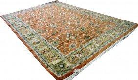 Tabriz Carpet - 9' 'x13' Rust/beige Background