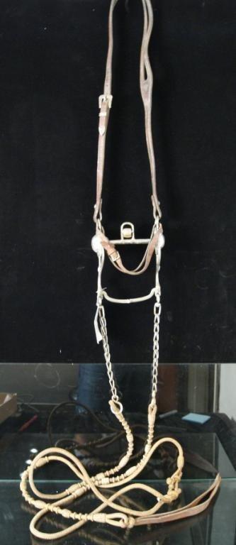 174: Vintage Visalia Bit w/ Braided Leather Reins