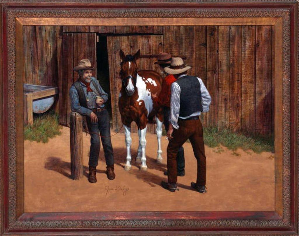 "175: Jim Daly (1940) 30"" x 40"" o/c ' American West'"