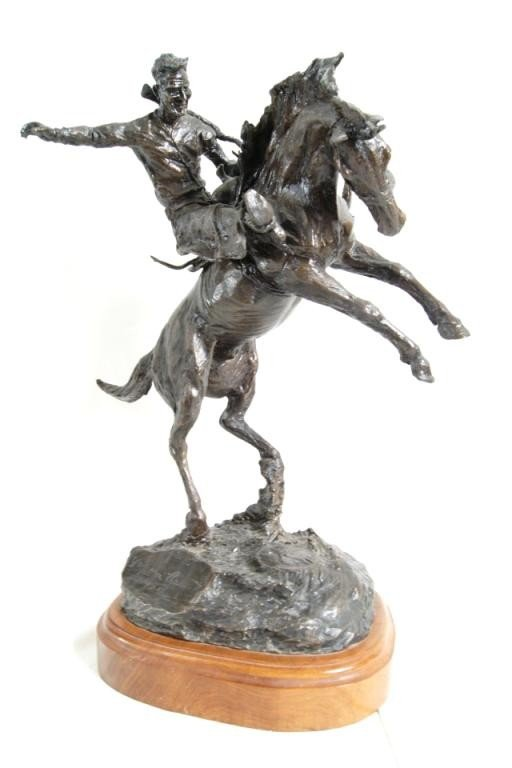 182: Bronze sculpture - Yakima Canutt w/ posters 1/100