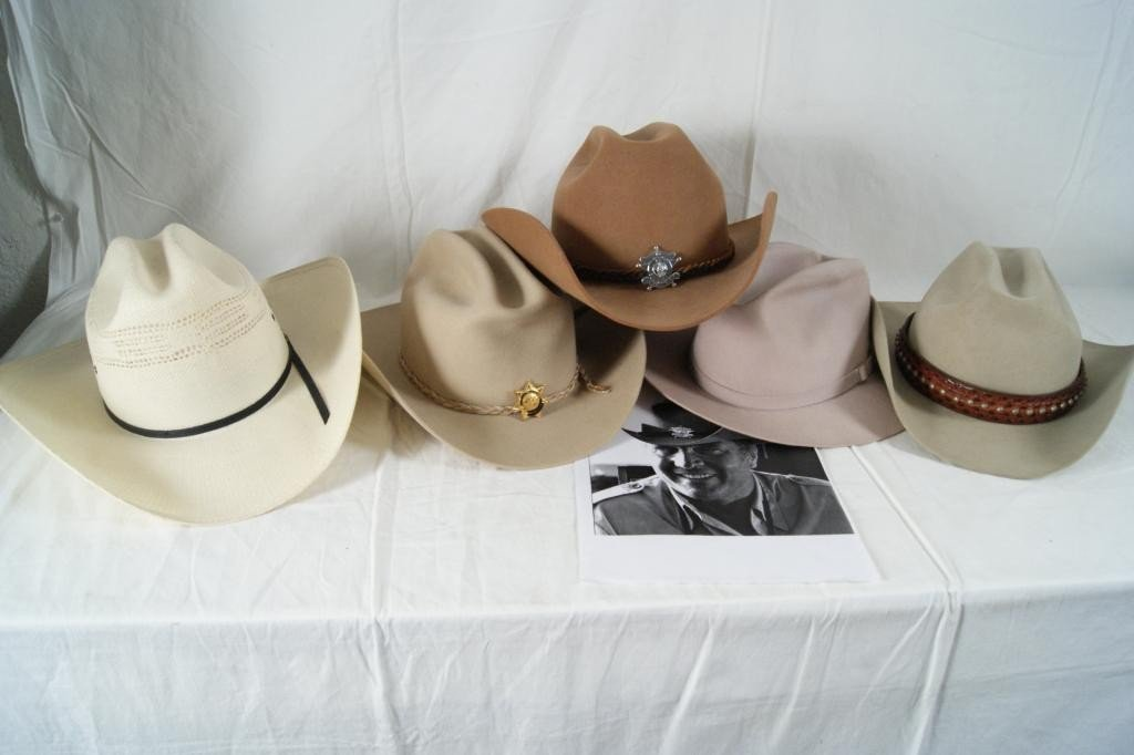 """184: 5 John Crawford hats - 1 from the """"Waltons"""" show"""