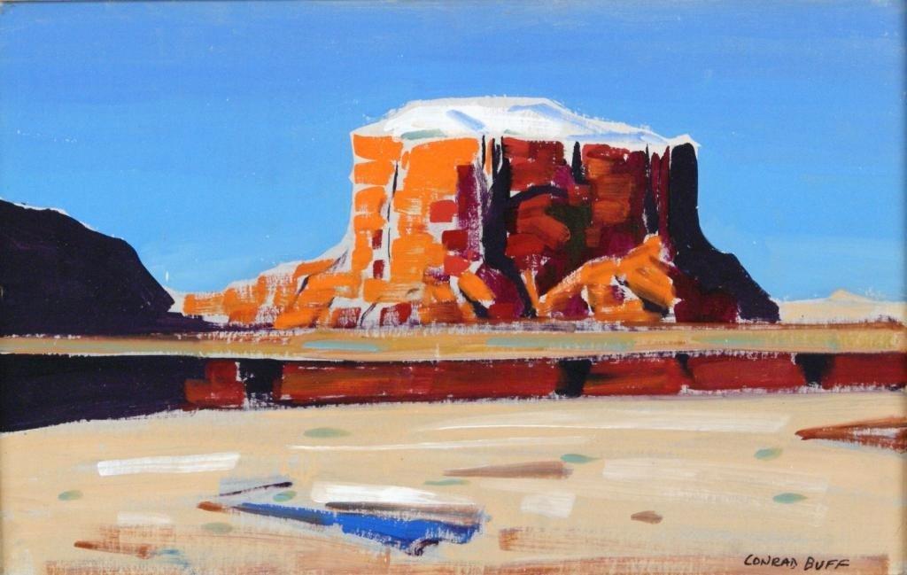 185: Conrad Buff (1886-1975) monolithic desertscape