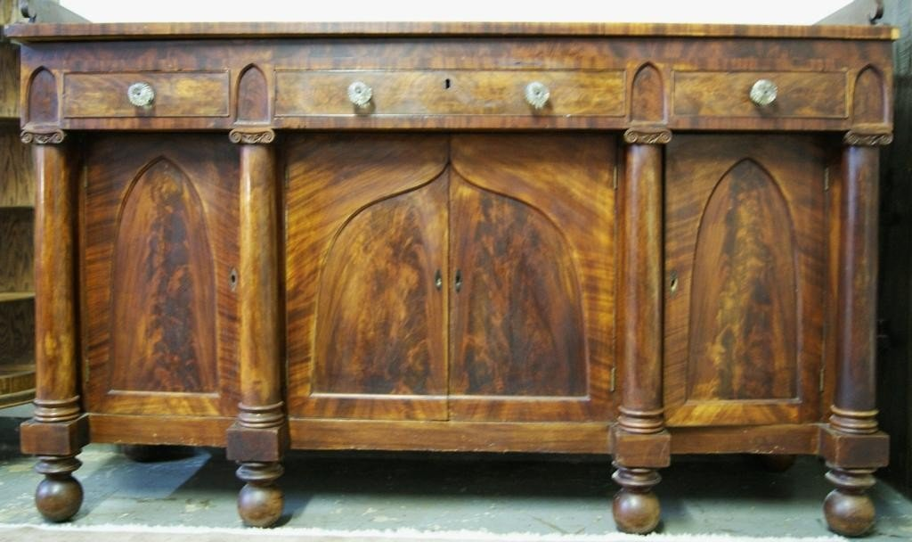 187: Antique mahogany sideboard ca 1840's