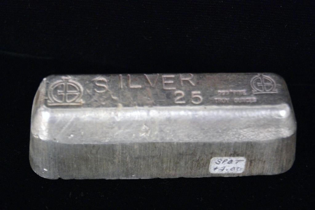 199A: 25 Troy oz. Silver bar