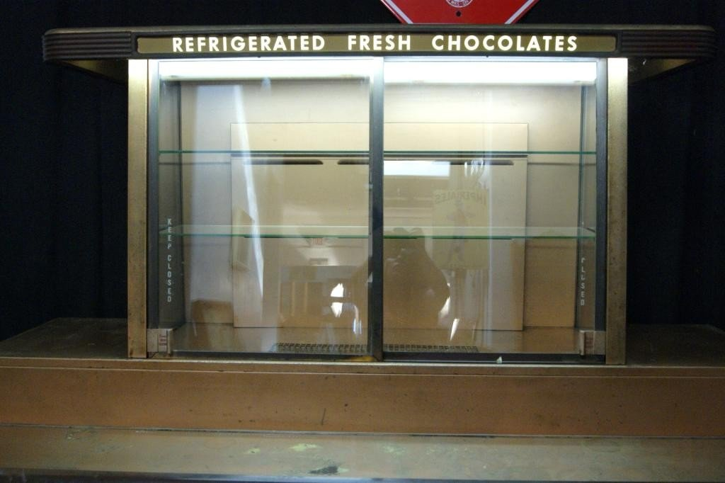 203: Whitman chocolate & candy vintage display cabinet - 2