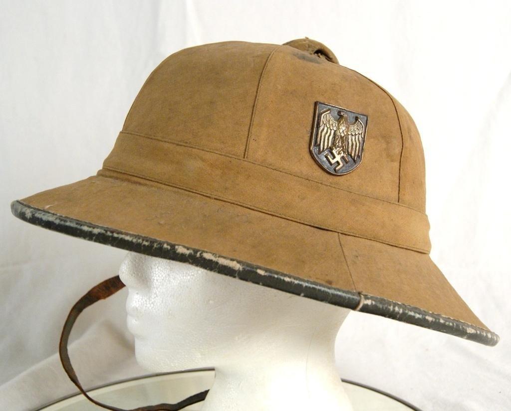 314: Rare German WWII North Africa Pith Helmet