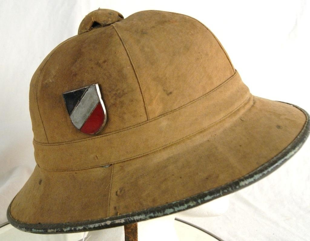 314: Rare German WWII North Africa Pith Helmet - 3