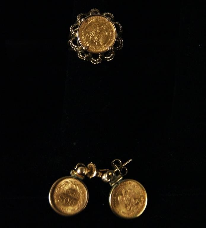 3: Gold Dos Pesos Ring & Earrings