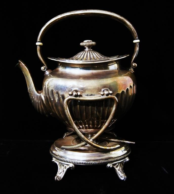 7: Gorham silver plate coffee dispenser