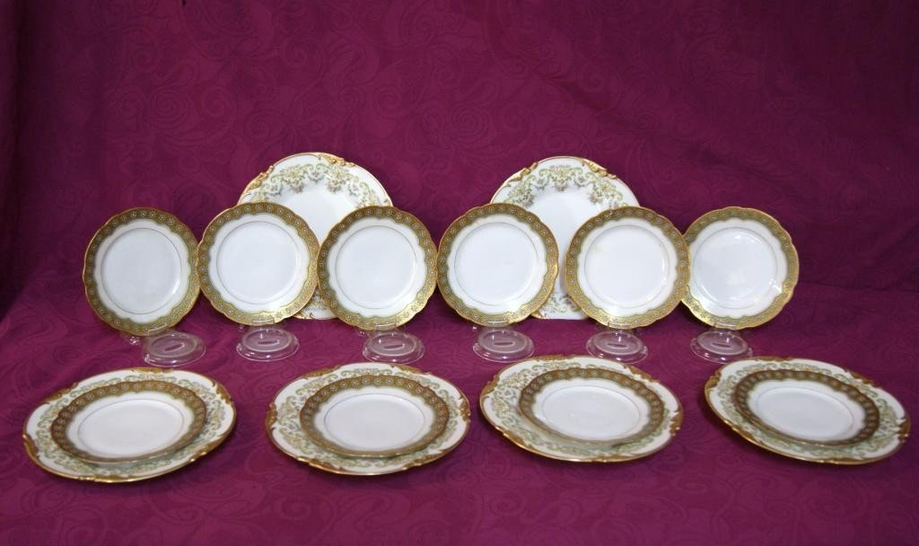 10: Limoges - 6 plates and 10 desserts