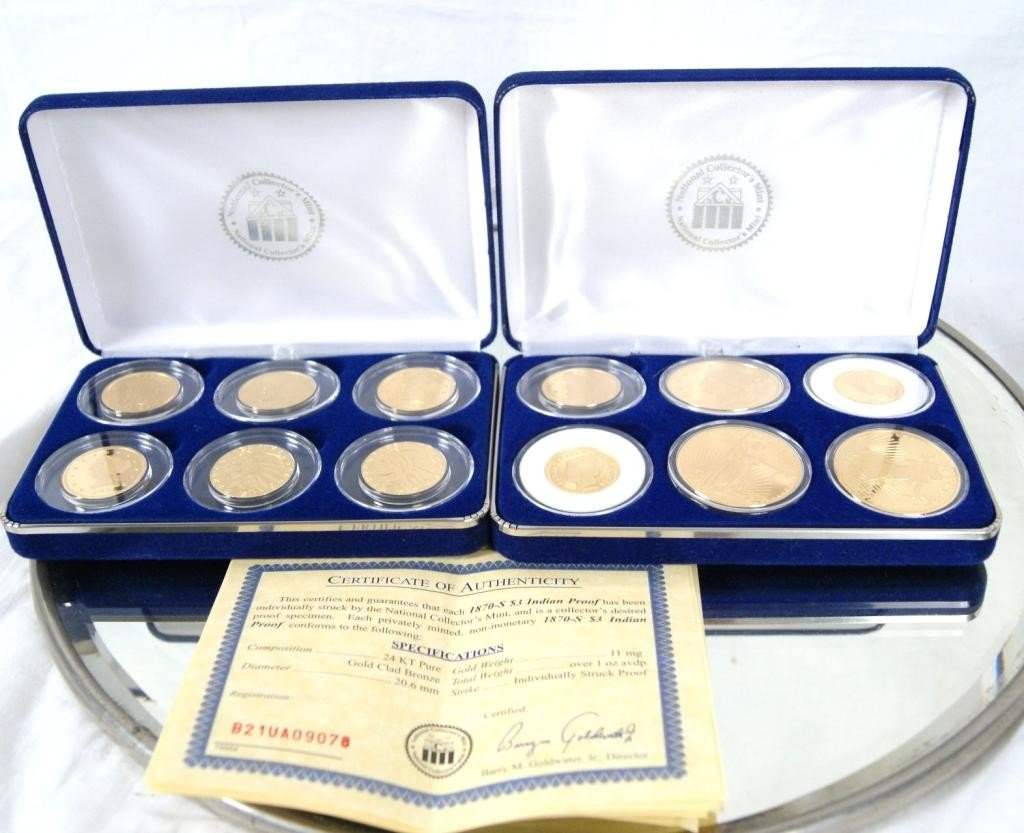 "8: Two sets ""National Collector's Mint"" commemorative"