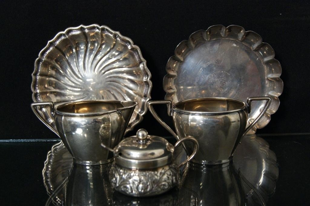 2: Collection of Sterling Bowls & Dishes 366 grams tw
