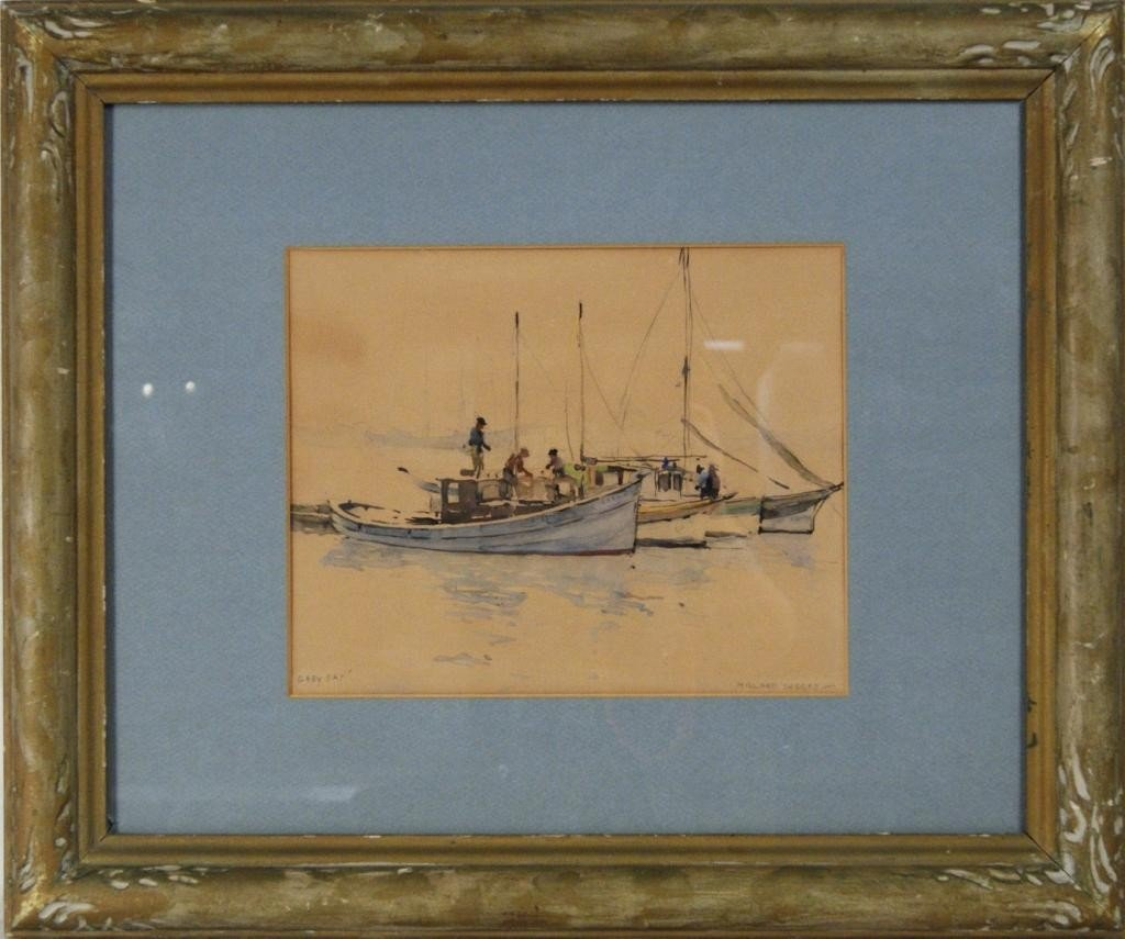 15: Millard Sheets (1907-1989) watercolor