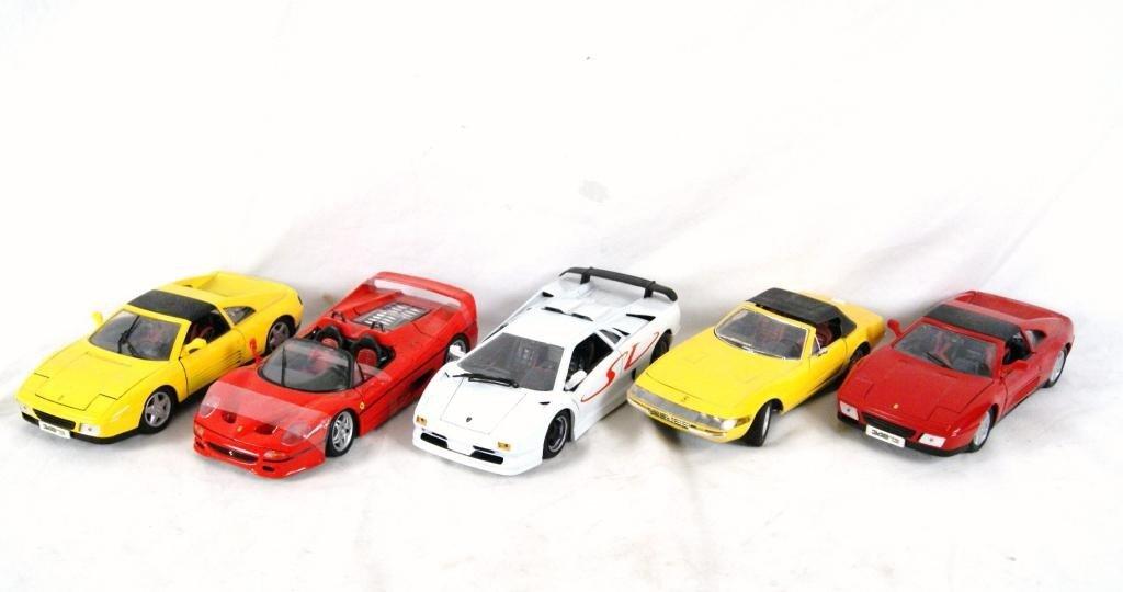 2: Collection of 5 Ferrari Die-Cast Cars 1:18