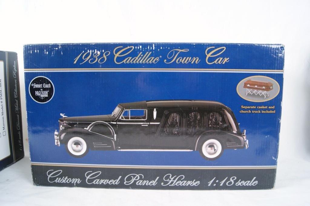3: 1938 Cadillac town car Precision Miniatures Hearse