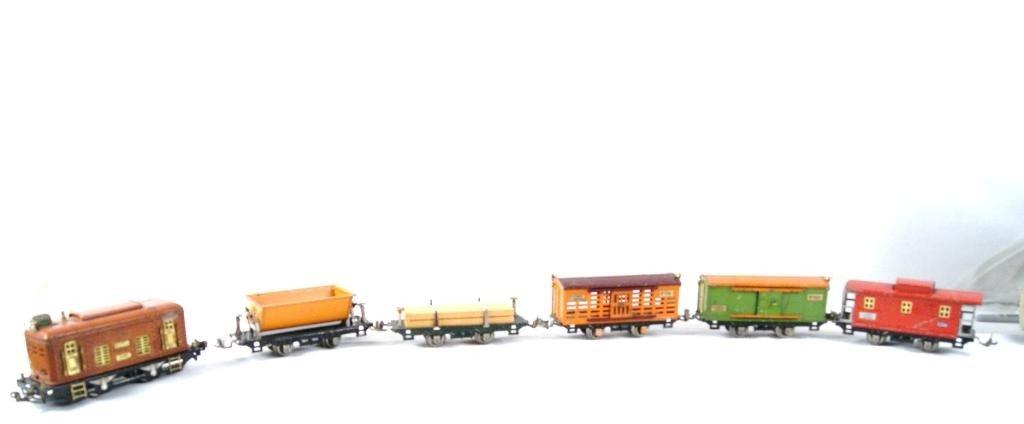 8: Lionel tin vintage train cars - 6
