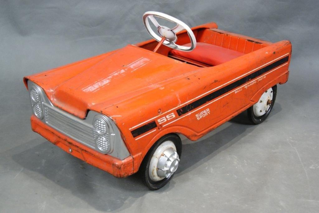 13: Vintage Orange Super Sport Pedal Car