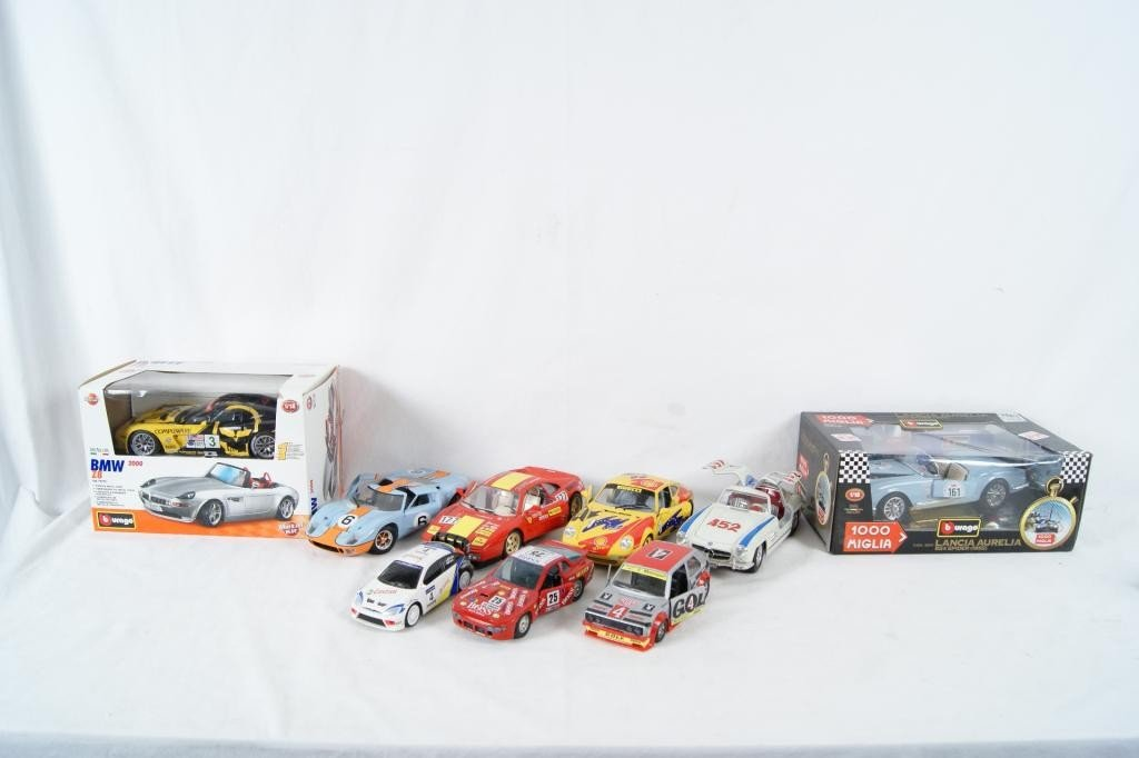 58: Collection of 9 Die-Cast Race Cars