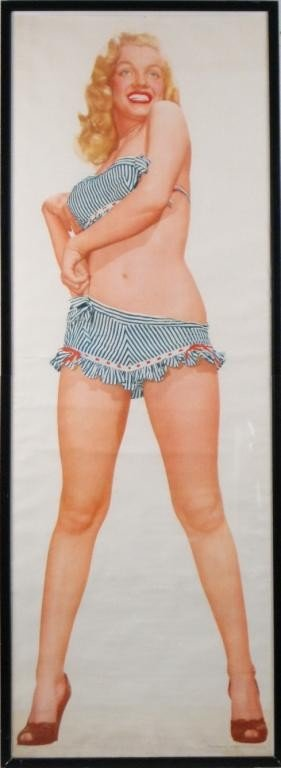167: Vintage Marilyn Monroe life size pin up poster