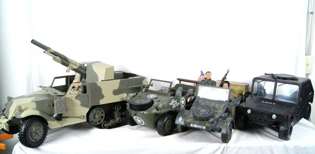 192: Collection of 4 1:6 scale military vehicles GI Joe