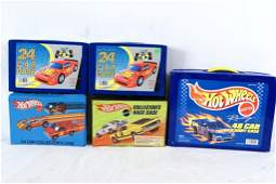 384: 112 Vintage Hot Wheels & 5 Collector's Cases
