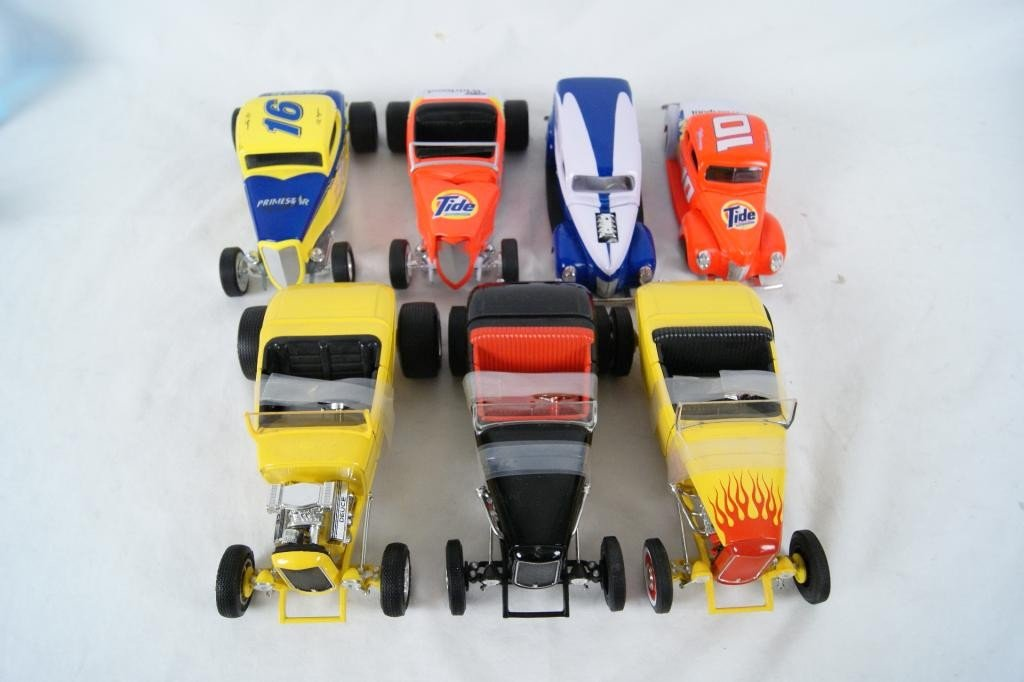 20A: Collection of Die-Cast Hot Rods -Ertl Racing Chpns